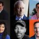 Top row: Natasha Trethewey, Nicholas Kristof, Michael J. Sandel, Juana Medina, Ayad Akhtar; Bottom row: Michael Murphy, Sheryl WuDunn, Jerry Craft, Guy Raz, Grace Talusan